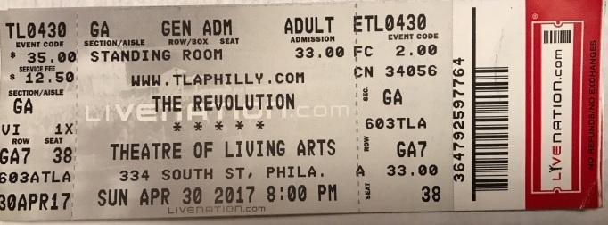 Revolution 4-30-17 Ticket
